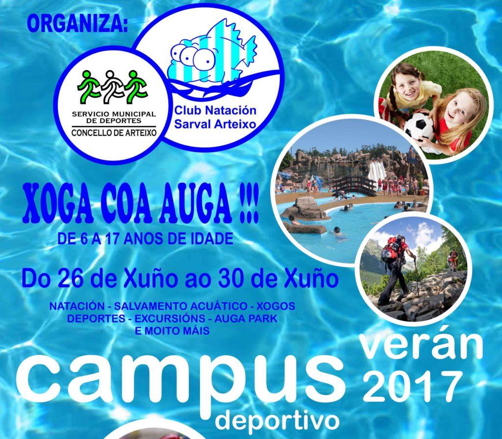 Campus xoga coa auga 2017 club nataci n arteixo for Piscina municipal arteixo