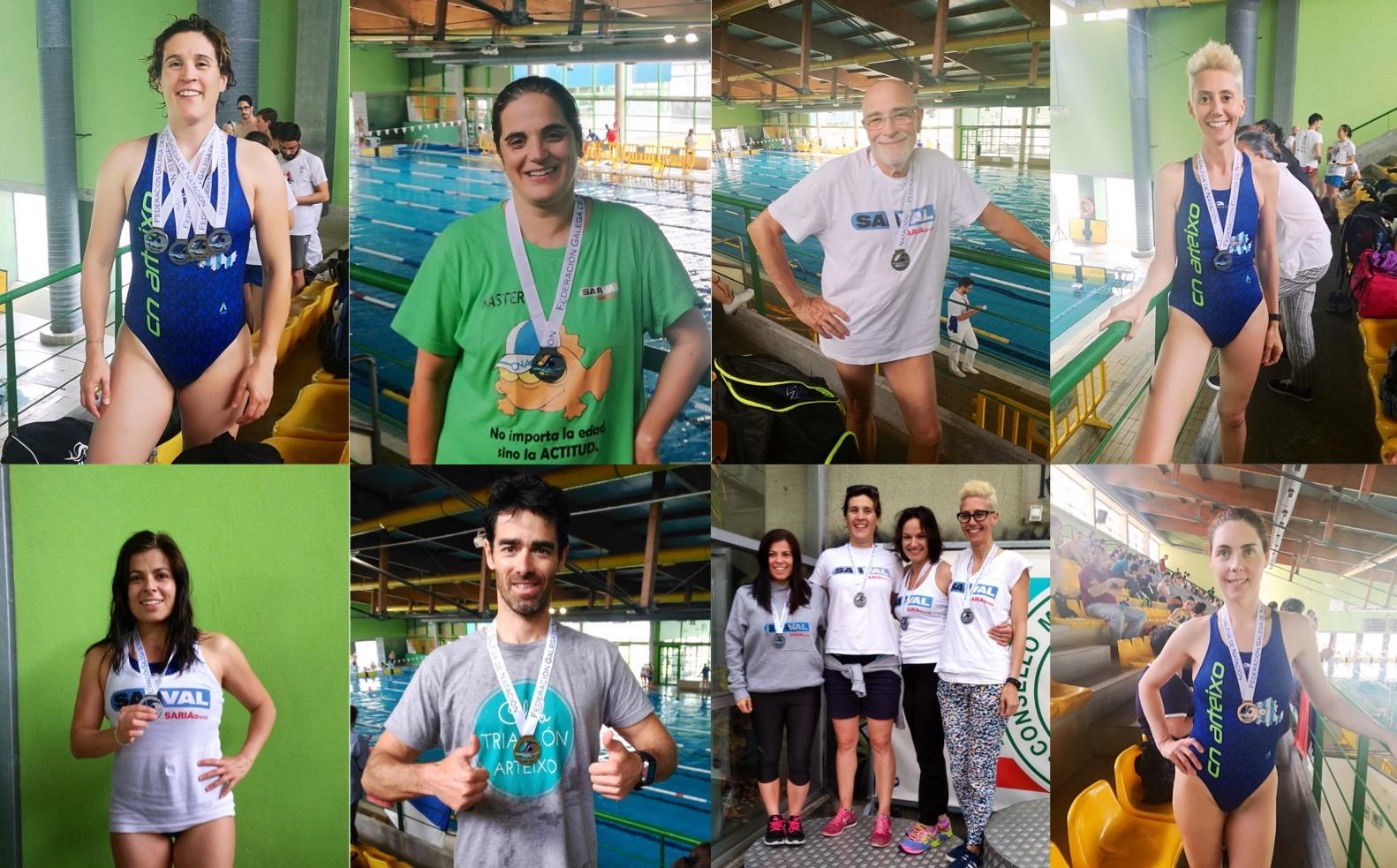 Campionato galego m ster resultados club nataci n arteixo for Piscina arteixo